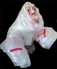 Picture Sensory Homunculus in Bubblewrap