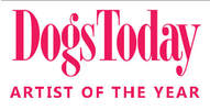 Picture of Dogs Today logo from dogs today magazine, with sub heading saying Artist of the Year