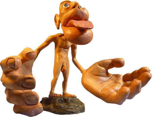 Picure of the Front of a Sensory Homunculus by Sharon Price-James