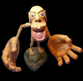 Picture of Sensory Homunculus link to Homuculus section